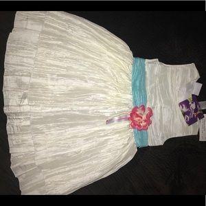 Blueberi boulevard crinkle dress w/ sash (size 4)